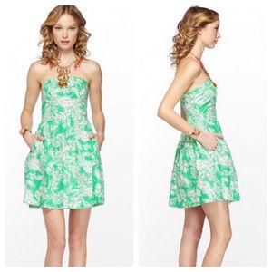 Lilly Pulitzer Chandie Dress Green Beach Bash  XS